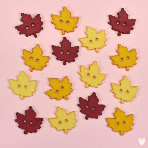 BUTTONS GALORE Hello Autumn 4628 Autumn Leaves Fall Garden DRESS IT UP