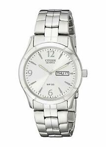 Citizen-Men-039-s-BK3830-51A-Quartz-Day-amp-Date-Silver-Tone-Bracelet-37mm-Watch