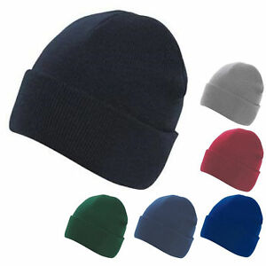 Mens-Ladies-Unisex-Knitted-Ski-Hat-Wooly-Warm-Winter-Skiing-Beanie
