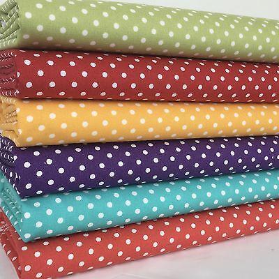 6 FAT QUARTER BUNDLE plain basics brights red blue.... 100 /% cotton fabric