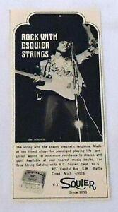 small 1968 Esquire Guitar Strings ad ~ JIMI HENDRIX