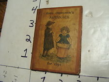 Antique book: KATE GREENAWAY'S ALMANACK for 1894 mini book