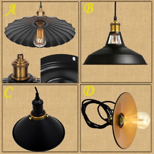 Modern-Metal-Style-Lounge-Lighting-Ceiling-Pendant-Light-Shades-Retro-Lampshade