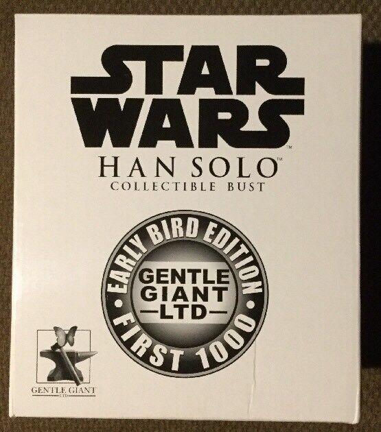 NIB Early Bird Edition Gentle Giant Star Wars Han Solo Bust