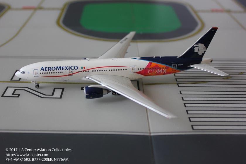 Phoenix Model Aeromexico Boeing 777-200ER CDMX in Nuovo Color Diecast Model 1:400