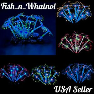 Glowing Artificial Coral Plant Fish Tank Decoration Aquarium Betta Saltwater