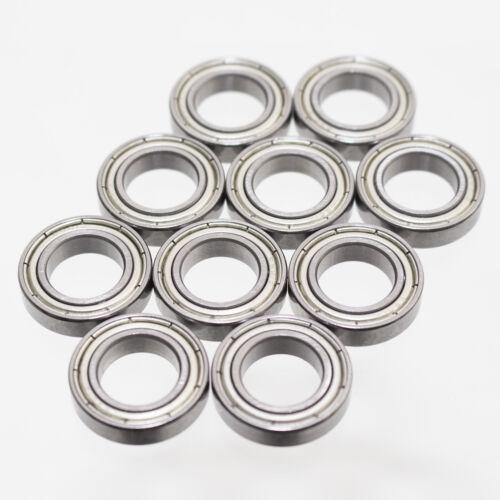 10 x Kugellager 21 x 12 x 5 mm 6801 ZZ = 2Z Rillenkugellager Metallabschirmung