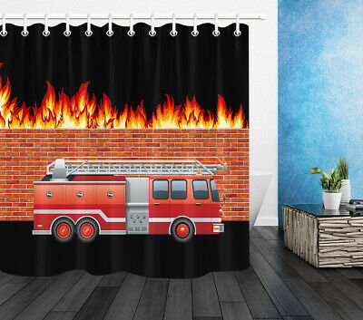 Fire Truck Rescue Polyester Fabric