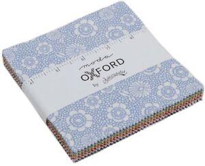 Oxford-Prints-Moda-Charm-Pack-42-100-Cotton-5-034-Precut-Fabric-Quilt-Squares