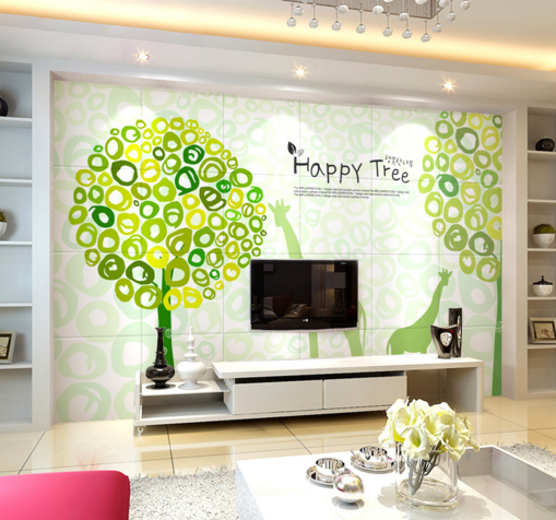 3D Happy Tree Poster 7 Wall Paper Murals Wall Print Wall Wallpaper Mural AU Kyra