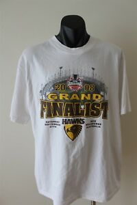 Hawthorn Hawks 2008 Grand Finalist AFL Football Men's T-Shirt Size XL