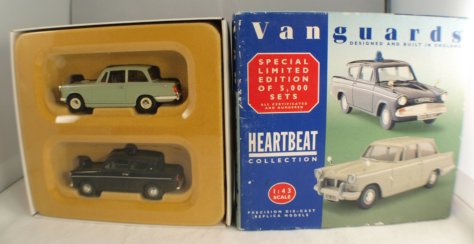 Vanguards Heartbeat Collection No. Hb 1002 Ford Anglia & Triumph Herald 1 43