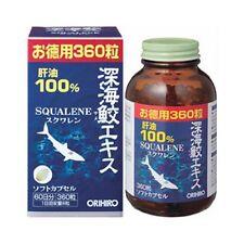 ORIHIRO Deep Sea Shark extract 360 tablets (60days), Liver oil, Squalene