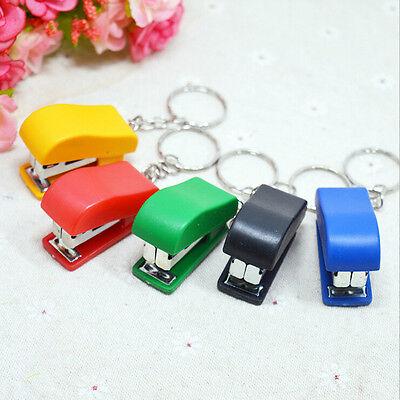 Portable Keychain Mini Cute Stapler For Home Office School Paper Bookbinding SE