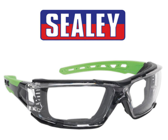 Sealey 2 in 1 Clear Eye Safety Wraparound Glasses Goggles Anti Scratch SSP68