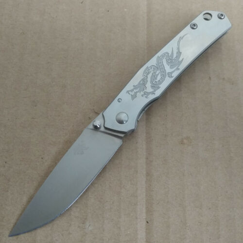 Sanrenmu Messer 7129LUC-SC Taschenmesser 8Cr13Mov-Stahl Jagdmesser Einhandmesser