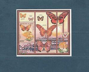 Niger-bloc-flore-faune-papillon-champignon-1991-num-57