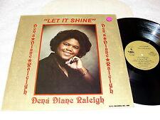 "Dena Diane Raleigh ""Let It Shine"" 1985 Black Gospel LP, Nice NM!, on SFC"