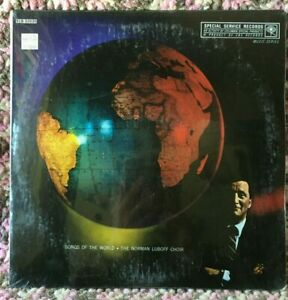 NORMAN LUBOFF CHOIR VINYL songs of the world LP x2 SEALED MONO '58 6eye Columbia
