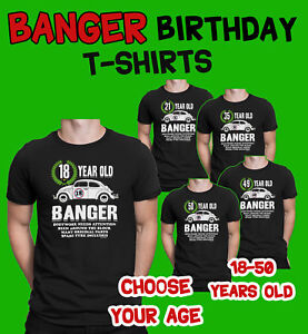 Image Is Loading Mens 18th To 50th BIRTHDAY TShirts OLD BANGER