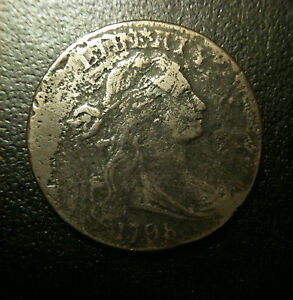 1798-1c-Draped-Bust-Large-Cent-Extra-Fine-VF-XF-S-159-First-Hair-R3-RARE-Variety