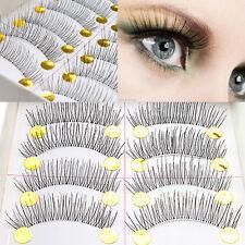 10 Pairs Makeup Natural Fashion False Eyelashes Handmade Individual Eye Lashes