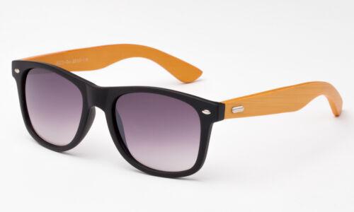 Bamboo Wood Sunglasses Matte Rubber Black Vintage Genuine Wooden Frame Retro