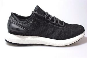 981225640 NEW MENS ADIDAS PURE BOOST RUNNING SHOES BA8899 BLACK GREY WHITE ...