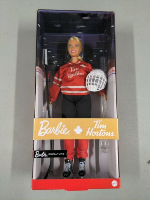 NEW Tim Hortons Barbie Doll in Hockey Uniform Mattel Canadian