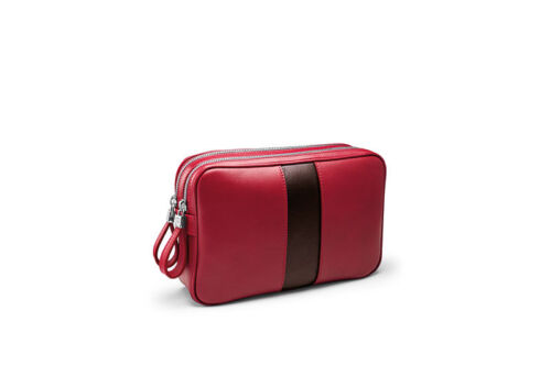 new style b7479 4fb46 Traveller Shanghai Rrp Red Davidoff £ World Kina 600 Leather pvg Bag YBwq6