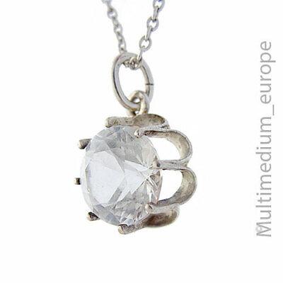 Honig Vintage Silber Anhänger Bergkristall Silver Pendant Mountain Crystal ????????????????????