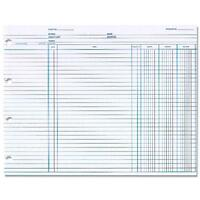 Wilson Jones Balance Ledger Form 3 Columns 7-1/2x10-3/8 100/pk We N1d