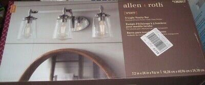 Allen Roth Wyatt 3 Light 24 In Polished Chrome Led Vanity Bar Lw 1103chr New Ebay