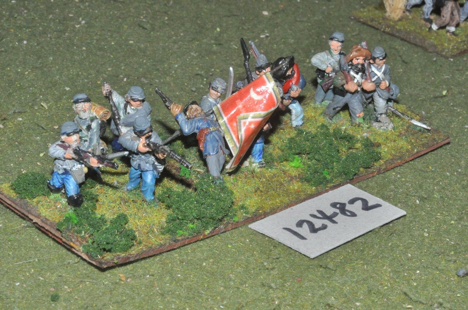 25mm ACW   confederate - american civil war infantry 13 figures - inf (12482)