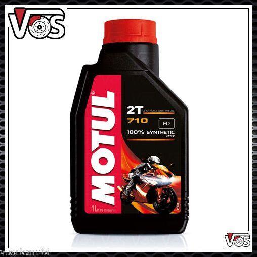 Olio Motore Moto Motul 710 1 litro 2 tempi 100% Sintetico Estere antifumo