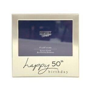 Happy 50th Birthday Gift Present Photo Frame For Men Women Male
