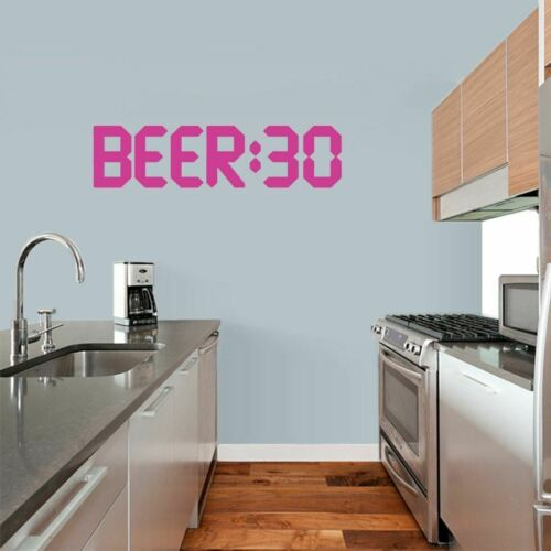BEER:30 Wall Decal Drinking Kitchen Funny Quotes Man Cave Alcohol Beer