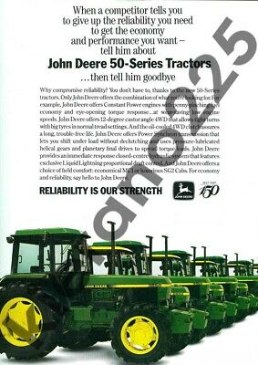 Agriculture/farming Business, Office & Industrial Audacious A3 Vintage John Deere 50 Series 3350 Tractor Advertising Brochure Poster Non-Ironing