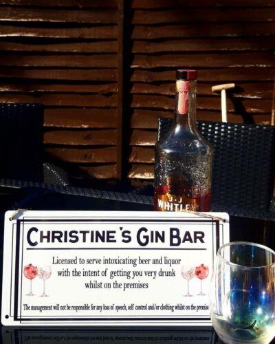 NOUVEAU Parfait Pour Jardin /& Maison barreaux! Personnalisé En Métal Blanc Cocktail Bar signe