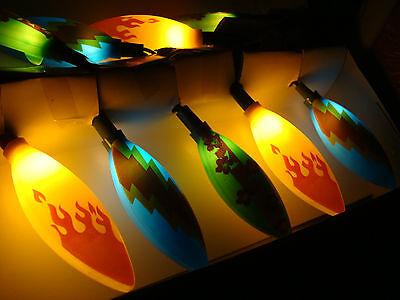 10 SURFBOARD INDOOR OUTDOOR Novelty Party Lights Set Tiki Beach Bar Surfer Decor
