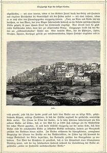 ObéIssant Terre Sainte * Vue De Jaffa * Original Feuille De 1884-afficher Le Titre D'origine
