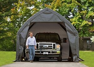 Image is loading Shelter-Logic-13x20x12-Garage-Auto-Shelter-Portable-Storage - & Shelter Logic 13x20x12 Garage Auto Shelter Portable Storage Carport ...