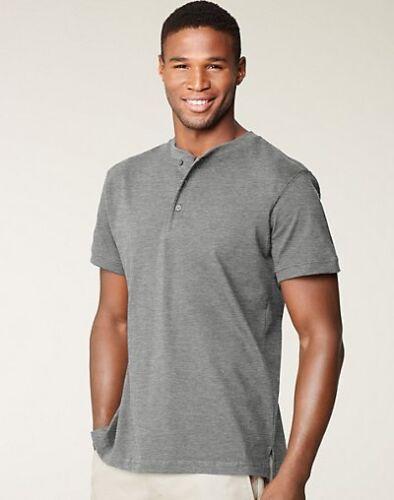 Men/'s Hanes Signature Jersey Cotton Ultimate Henley