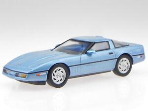 Chevrolet-Corvette-C4-1984-blue-diecast-modelcar-PRXD591-PremiumX-1-43