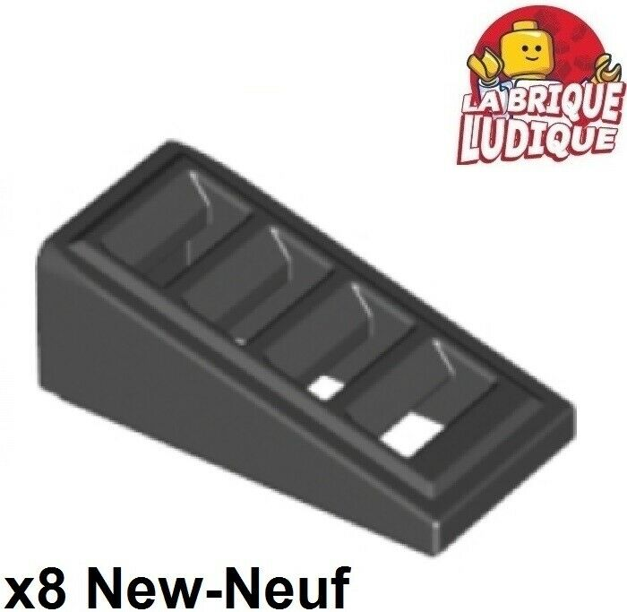 Dark Grey Slope 1x2 Slots New New 10 x lego 61409 Brick Gradient Grill