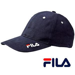 Cappellino Uomo Fila Sportivo Donna Visiera Baseball Blu cotone Estate  Cappello  acdc21449da4