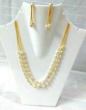 Necklace Jewellery Set with Earrings white pearl Fashion World