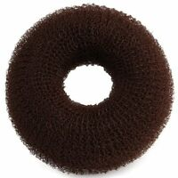 Brown Donut Hair Ring Bun Former Shaper Styler Tool New ED