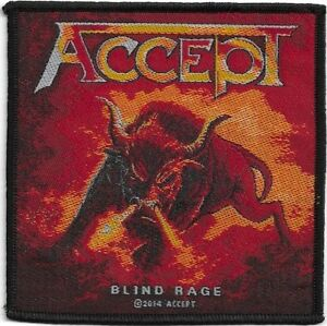 Official-Licensed-Merch-Woven-Sew-on-PATCH-Metal-Rock-ACCEPT-Blind-Rage