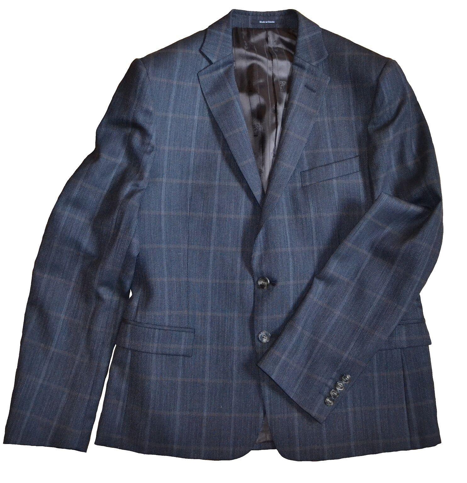 NWT 695 Versace Collection by Gianni Versace Slim Trim Fit Wool Blazer Größe 40R